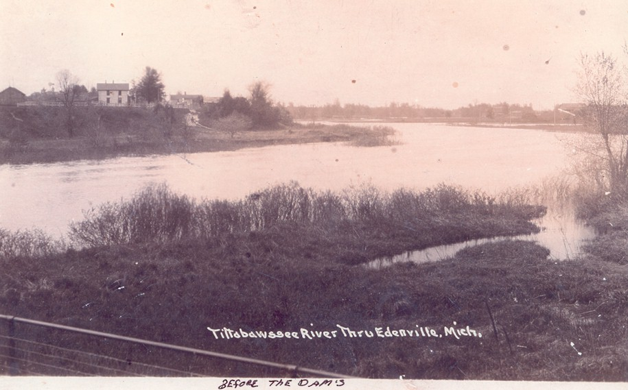 Old Image of Tittabawassee River before the Dam